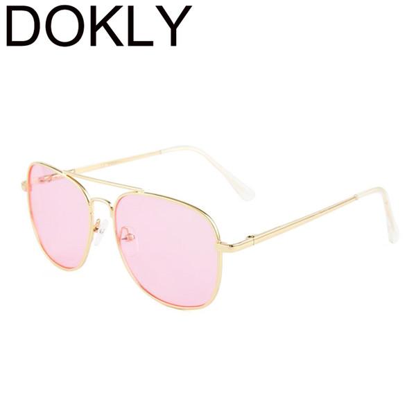 DOKLY Sweet Candy Color Square Sunglasses Women Fashion Sun Glasses Women Mirror Classic Vintage UV400 Oculos De Sol Gafas
