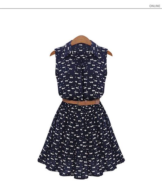 Frauen Designer Kleider Sleeveless Print Animal Casual Sommer dünnes Kleid für Dame A-Line Kleidung Hot Sell Fashion Style Kleider Großhändler