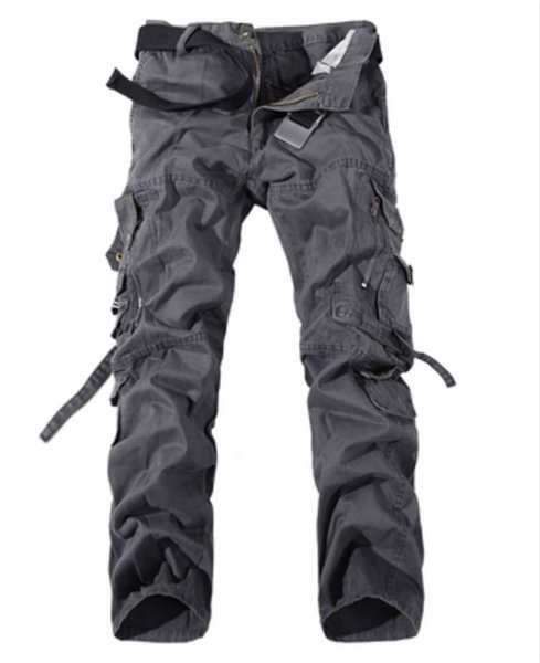 2019 Men Clothes Tactical Cargo Pants Man Combat Army Pants Cotton Many Pockets Stretch Flexible Man Casual Trousers