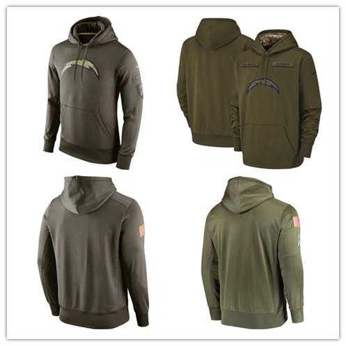 more photos 633cb 6375e Men'S Los Angeles New Chargers Jersey Fashion Movement Olive Salute To  Service Pullover Football Hoodie 2018 2019 NEW UK 2019 From Double_angel,  UK ...