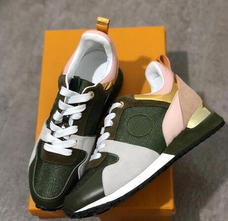 hakiki deri moda Karışık renk orijinal kutu 2019 YENİ Lüks deri rahat ayakkabılar Kadınlar Tasarımcı spor ayakkabıları erkek ayakkabıları