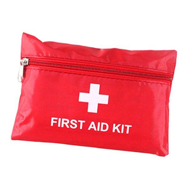 Botiquín de primeros auxilios para aparatos de supervivencia de emergencia de Outoor Oficina en el hogar Vehículo Acampar en el lugar de trabajo Manta de lámina de emergencia Tijeras para exteriores