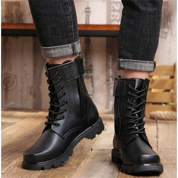 Hot Sale-Men Winter Steel Toe Safety Boots Genuine Leather Military Boots Russian Style Warmest Natural Wool Men Snow Boots Motorcycle Boot