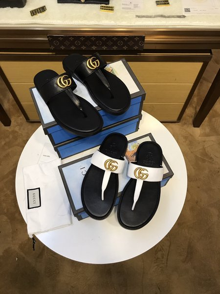 good quality Men Sandals Designer Shoes Luxury Slide Summer Fashion Wide Flat Slippery With Thick Sandals Slipper Flip Flop best shoes wsed