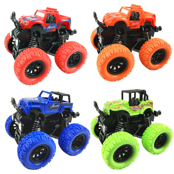 Hot Sale Kids Stunt Cars Toys Inertia Car 4WD Off-road Vehicle Friction Cars Simulation Model SUV Children Party Gifts