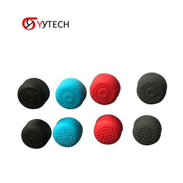 top popular SYYTECH Anti-Slip Soft Silicon Extended Length Thumb Grips Cover Case Caps Cover for Switch Joy-con Controller 2020