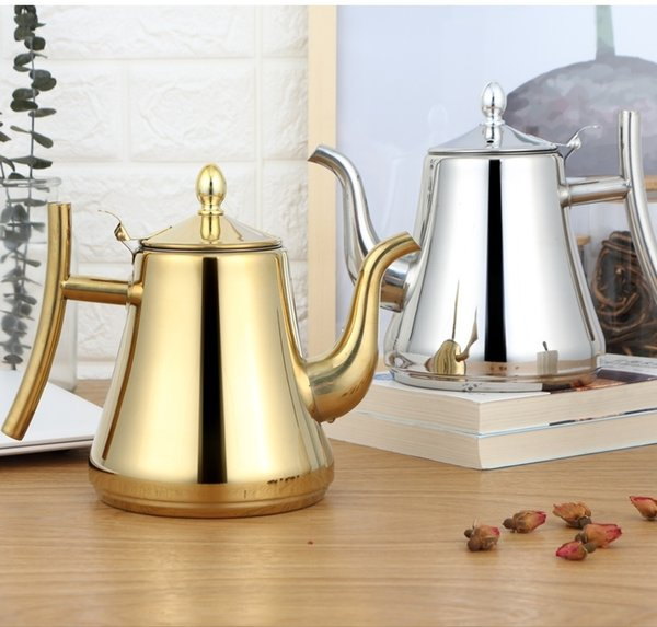 best selling 1.5L thickened stainless steel teapot with filter screen for home hotel restaurant