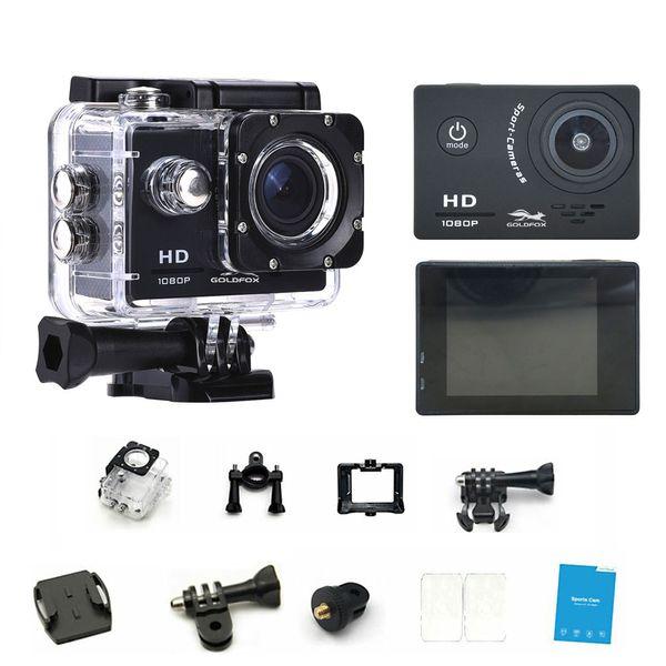 "Original Goldfox Action Camera HD 1080P 2.0"" LCD Screen Go Underwater 30M Waterproof pro Video Recording Cameras Mini Sport Cam"