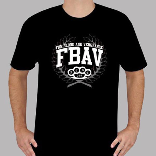 Nuevo For Blood And Vengeance FBAV Hardcore Band Camiseta negra para hombre Talla S a 3XL Camiseta divertida 100% de algodón Sudadera con capucha Camiseta hip hop