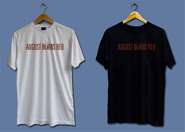 Different Colours High Quality 100% Men'S Office August Burns Short-Sleeve Tee