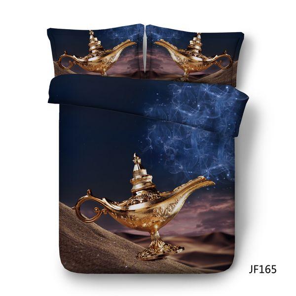 Desert Dark Blue Duvet Cover Set Magic 3PC Bedding Set With 2 Pillow Shams Moon Comforter Cover Animal Camel Bed Cover Galaxy Star Bedspread
