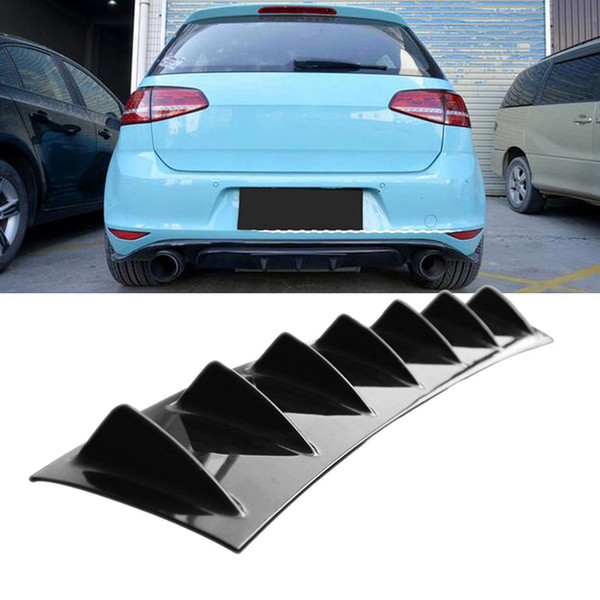 best selling Car Rear Bumper Cover Gloss Black ABS Cars Kit Rear Bumper Chassis Deflector Accessories Auto Fin Shark Style Modification Universal