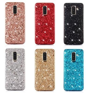 Fundas de teléfono de lujo Diamond bling Funda de teléfono con brillo para iPhone XR XS MAX X 8 7 6 Samsung Note 9 con bolsa de opp