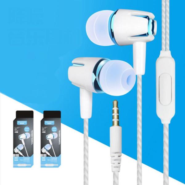 3,5 millimetri auricolare con cavo di controllo in-ear stereo di sport cuffia di riduzione di rumore cellulare linea universale per iphon telefono Android