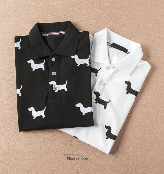 2019 New Fashion Mens Designer Polo Shirts Camiseta de lujo de alta calidad Casual Breathable Comfort Polo Plus Size M-3XL