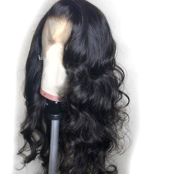 curly wig peruvian lace front human hair wigs with baby hair water wave lace front wig remy hair pre plucked bleached knots - from $15.27