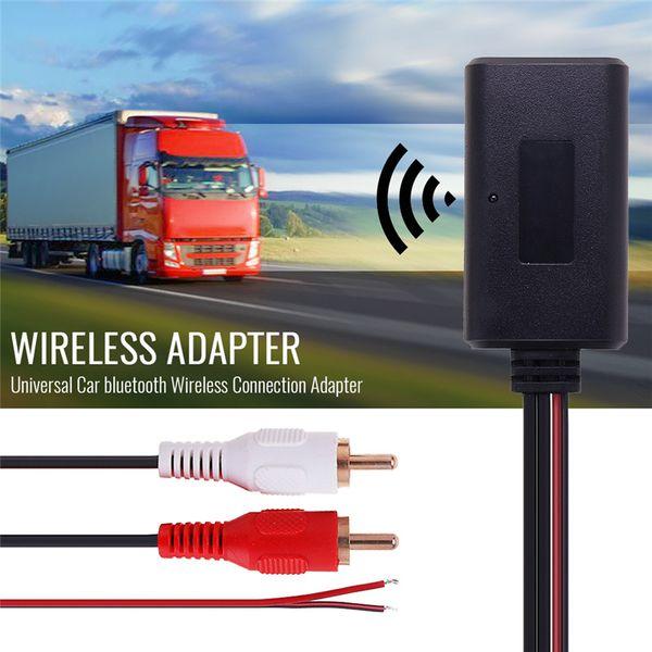 Adattatore connessione auto universale senza fili Bluetooth per stereo con cavo senza fili 2 RCA AUX IN Musica Ingresso audio per camion Auto