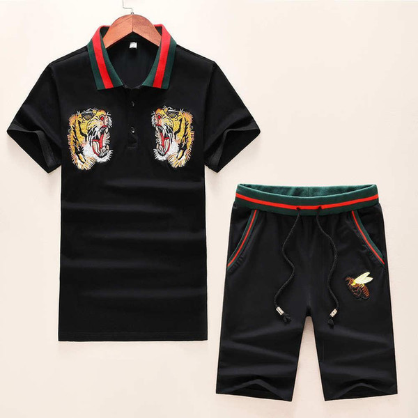 Luxus Herren Trainingsanzüge Sommer Neue Marke Designer Trainingsanzüge Für Männer Kleidung T-shirtshorts Anzüge Mode Tiger Sticken M-3xl