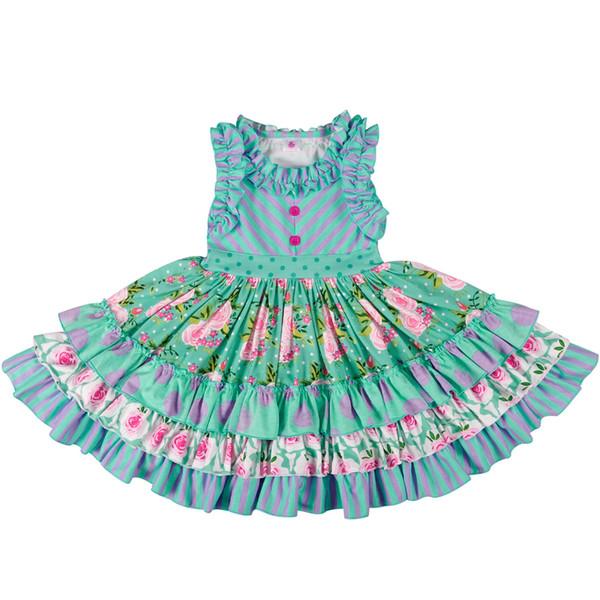 Toptan Toplu Bebek Kız Kafa Olmadan Yaz Kız Elbise Prenses Parti Giyim Güzel Remake Elbise Lyq803-080 MX190730