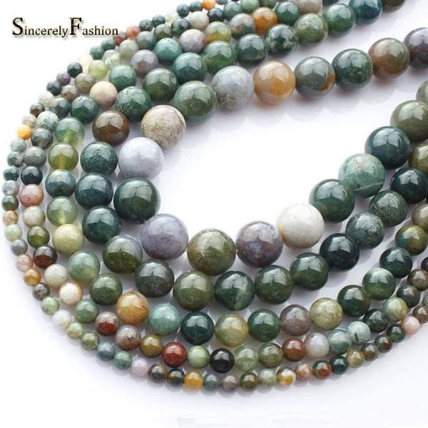 India Agate Natural Stone Beads for Jewelry Making Crystal Beads Diy Necklace Bracelet 6mm 8mm 10mm 12mm Round Beads