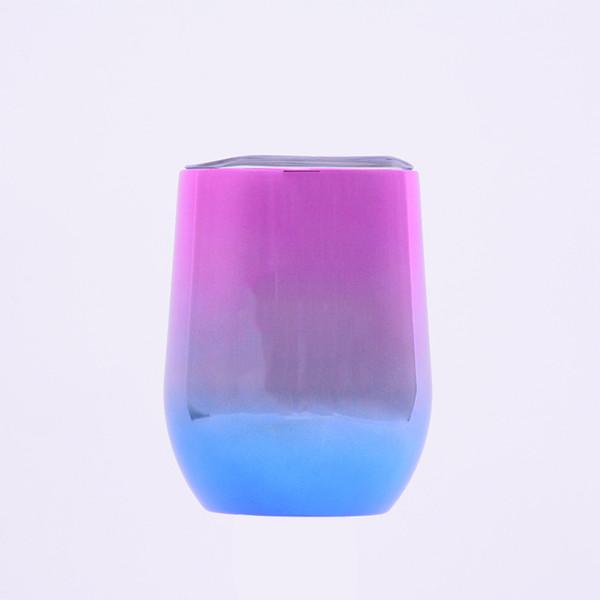 12oz Gradiente Em Forma De Ovo Caneca de Aço Inoxidável Isolado Garrafa Térmica de Café Canecas de Vinho Copos De Cerveja Cup Ovo Em Forma de Garrafa de Água de Viagem VF1520