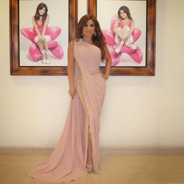 One Shoulder Lebanon Evening gown 2019 Indian Saree Side Split Mermaid Plus Party Vestido De Festa mother of the bride dresses