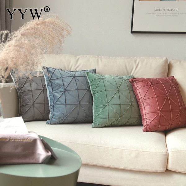 Nordic Style Home Cotton Pillow Pillowcase Geometric Home Pillows Pillowcase Office Living Room Creative Cushion Pillow Case
