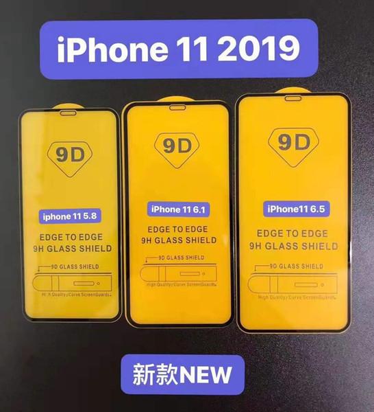 Полный клей Полная крышка 9D Закаленное стекло-экран протектор для Iphone 11 2019 5,8