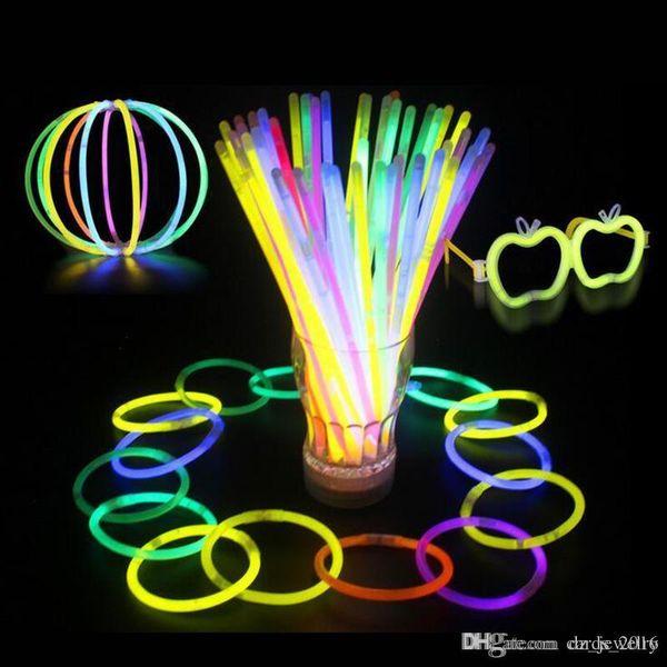 Multi Color Hot Glow Stick Bracelet Necklaces Neon Party LED Flashing Light Stick Wand Novelty Toy LED Vocal Concert