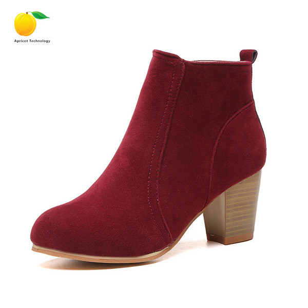 Stylist fashion winter tricolor brand new PU leather female ankle Martin ankle boots motorcycle smooth shoe fashion leather boots plus