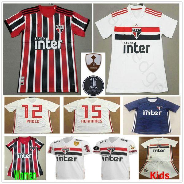 2019 2020 Sao Paulo Futbol Formaları PATO NENE PABLO HERNANES HELINHO JUCILEI Kaleci Özel Ev Uzakta Erkek Kadın Çocuk Gençlik Futbol Gömlek
