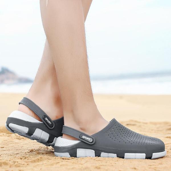 good quality designer sandals Jelly beach shoes men Sandals Casual Shoes Slippers Beach flip-flops Outdoor Slippers Hip-hop Street Sandals