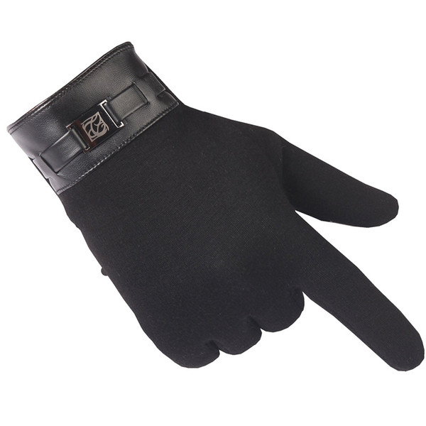KUDE Winter Gloves Warm Mittens Men Fashion Cashmere Touchable Screen Gloves Winter For Smart Cell Phone Tablet Pad Glove 7479