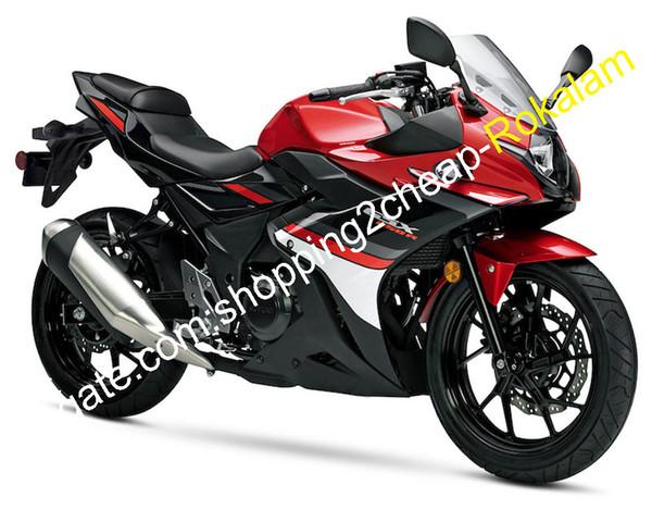 For Suzuki GSX250R 2017 2018 GSX250 R GSX 250R Red White Black Bodywork Motorbike Fairing Kit (Injection molding)