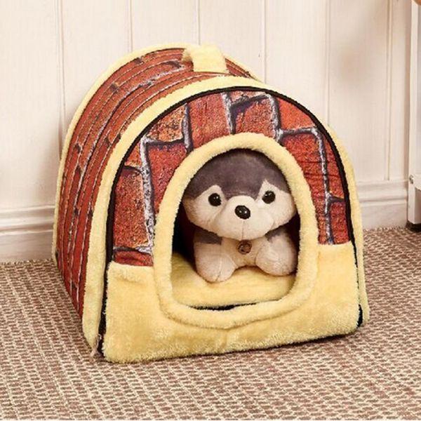 TPFOCUS 5 Colors Cute Creative Pet Dog Cat Bed Soft Winter Warm Kennel House Pet Mat Dual Purpose Detachable Washable S/M