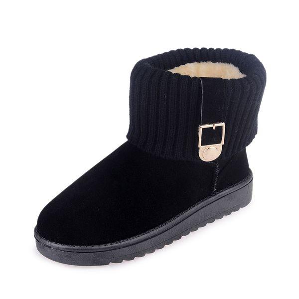 2020 Winter Women Boots Warm Plush Ankle Snow Boots Women Shoes Fashion Warm Non-slip Casual Zapatos De Mujer W22-03