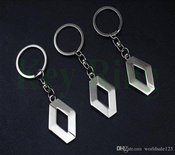 3D Metal Car Key Ring for Renault Fashion Brand New Auto Supplies Renault Emblem Keychain Reynolds Keyring Car Accessories Key Chains