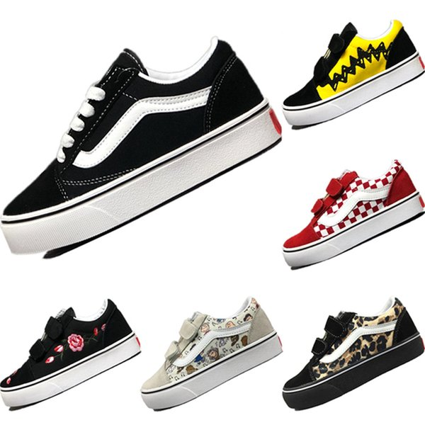 2019 Old Skool Revenge Storm Suede Splicing Kids Skateboard Shoes Old Skool Revenge Storm Mix Rubber Kids Training Sneakers