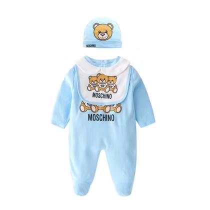 طفل بذلة 3 قطعة مجموعة ملابس الطفل القطن الربيع والخريف طويلة الأكمام رداء الطفل رومبير دعوى