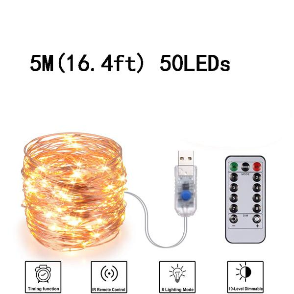 USB 5M (16.4ft) 50LED