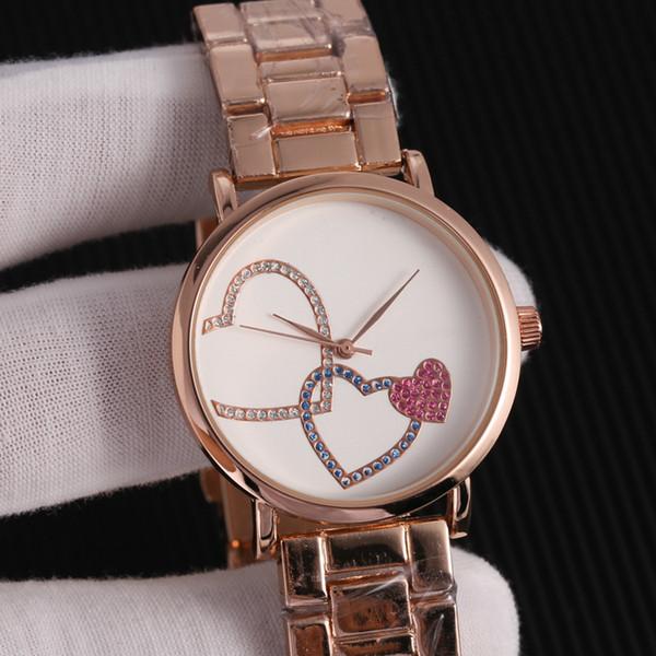 Fashion Rhinestone Diamond inlay large letters mk Clock dial Large dial Man Woman michael Quartz Watches wholesale American fashion brand mk