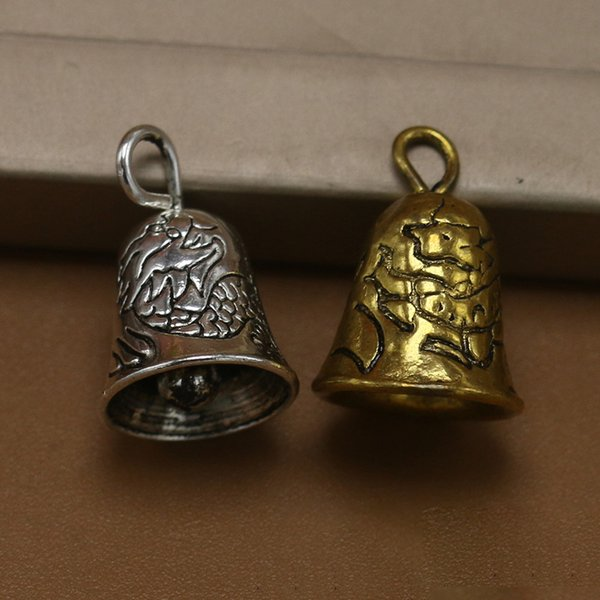 Gold Silver Bell Pendant Metal Antiqued Charms DIY Jewelry for Necklace Bracelet Keyrings Loose Bead Xmas Gifts
