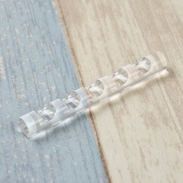 Acrilico Espositore per Brush trasparente vernice pen bagagli stand trucco Portamatite Rack di 5 pennelli Nail