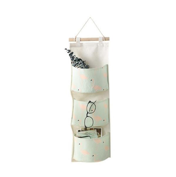 20*71 Kitchen bathroom Utensils Door Hanging Bag Three Pockets Wall Mounted Storage Bag Sundries Organizer Pouch Waterproof Storage Bag