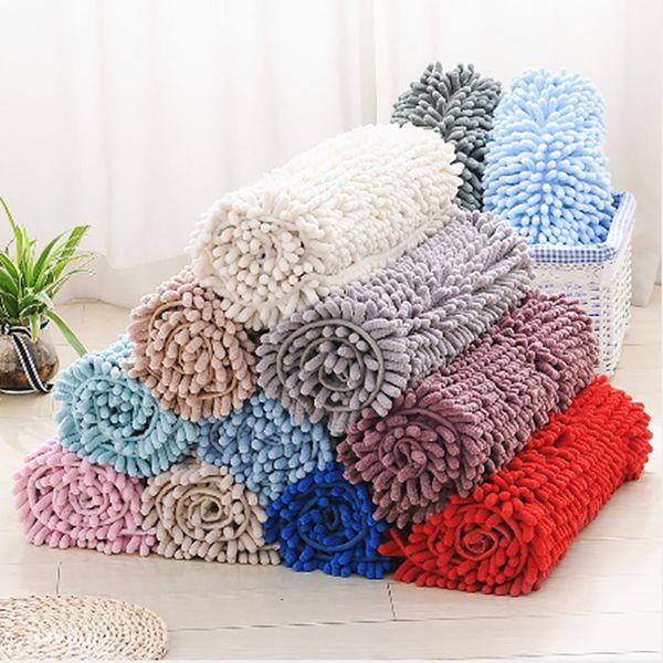 Soft Microfiber Shag Bath Rug Extra Absorbent and Comfortable Area Rug Anti-slip Machine-Washable Large Bathroom Mat Thick