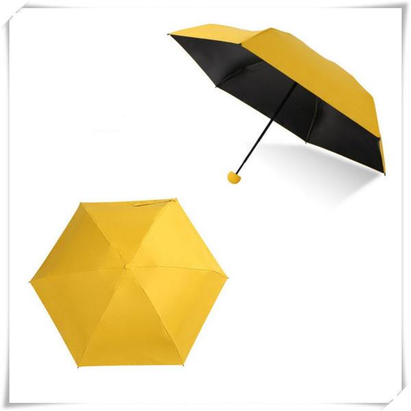 Aire libre mini paraguas plegable paraguas de la cápsula Caso ultra compacto ligero de bolsillo paraguas a prueba de viento lluvia o el sol Paraguas con alta calidad