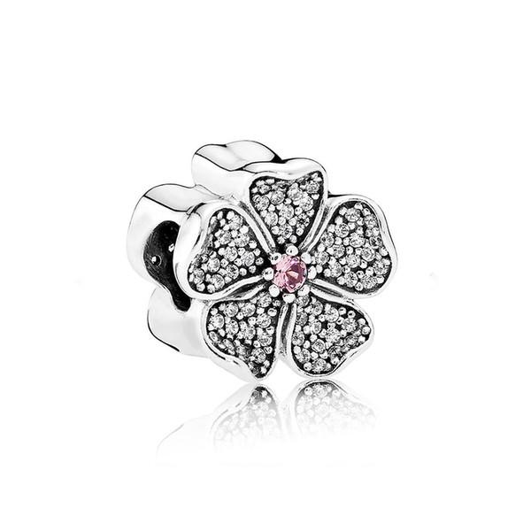 NOUVEAU 100% 925 Sterling Silver 1: 1 Authentique 791831NBP Étincelant Apple Blossom Charm Bracelet Original Femmes Bijoux