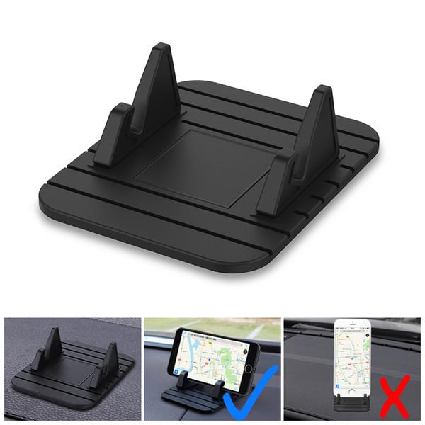 Universal Car Phone Holder Soft Silicone Desktop Anti Slip Mat Holder Soporte Soporte para Iphone Xs Max Xr Huawei P30 Pro Mate 20 teléfono móvil