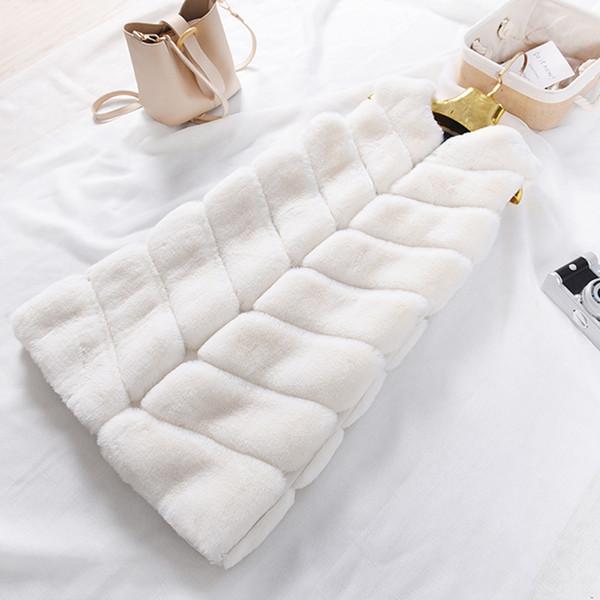 UPPIN Winter Hot New Imitation Rabbit Fur Vest Stitching Korean Faux Fur Coat Long Section Plus Size Pink Grey Women Jacket Coat