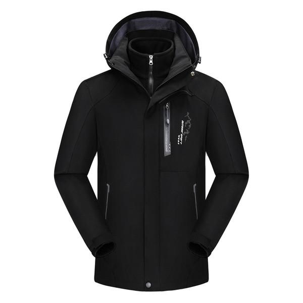 Windbreaker Men Casual Spring Autumn Jacket 2019 Men's Fashion Waterproof Hoodie Hat Detachable Breathable Sport Outdoor Coat